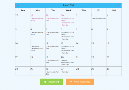 I tinkered with the code behind this calendar to configure just how they needed it. Time is saved by events automatically importing from Facebook. It also allows users to submit their own events.