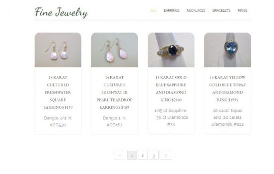 The site brings in sales with custom, sortable product gallery. Inventory can easily be inserted and edited by client.