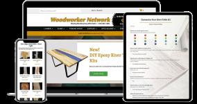 woodworking website design